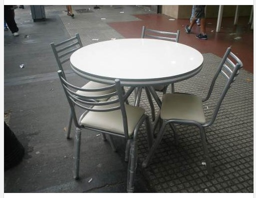 Combo mesa redonda 1 00m c 4 sillas ca o lejaim - Mesa redonda con sillas ...