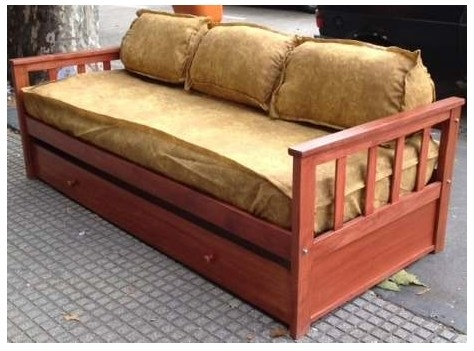 Super divan cama con carro y frontal lejaim for Divan 1 plaza