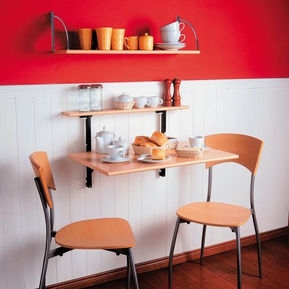 Mesa rebatible plegable para cocina desayunador mesas lt - Mesas de cocina bricor ...