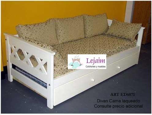 Divan cama fiume especial colchones almohadones y funda for Almohadones divan