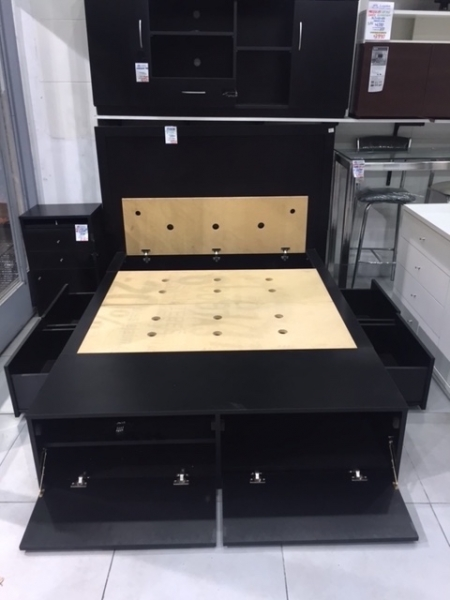 Super cama 2 plazas con 4 cajones 2 botineros y baulera lejaim - Cama 90 con cajones ...
